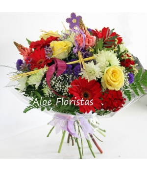 Ramo Flores Tonos Cálidos